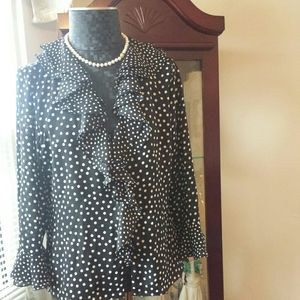 Jones New York size Medium Polka Dot Flare